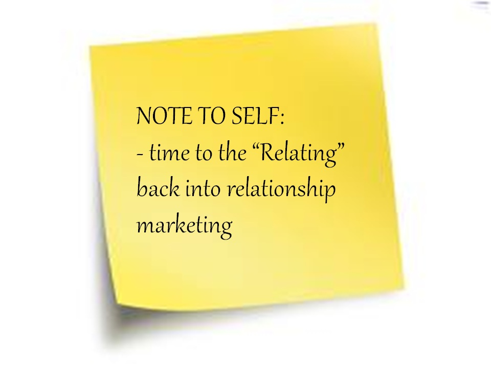 what is relationship marketing Relationship marketing refers to the form of marketing that developed from direct response marketing campaigns which emphasizes customer retention and satisfaction rather than a dominant focus on sales transaction.